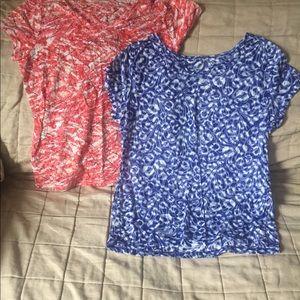 2 V-neck Tshirts somewhat sheer